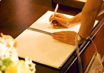 冠婚葬祭での手書き