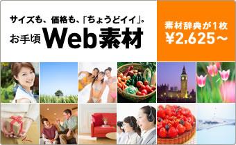 お手頃Web素材~サイズも、価格も、「ちょうどイイ」。素材辞典が1枚2,625円から